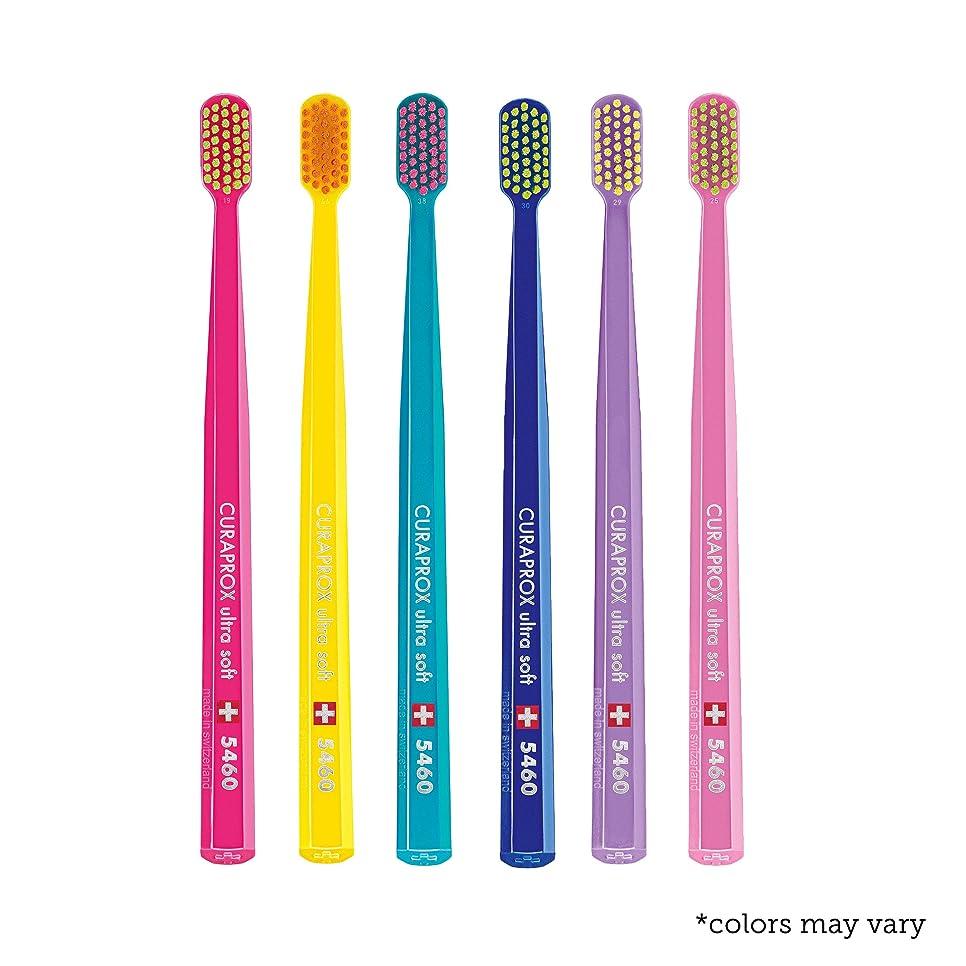 排泄する埋め込む勢いUltra soft toothbrush, 6 brushes, Curaprox Ultra Soft 5460. Softer feeling & better cleaning, in amazing vivid colours. by Curaprox