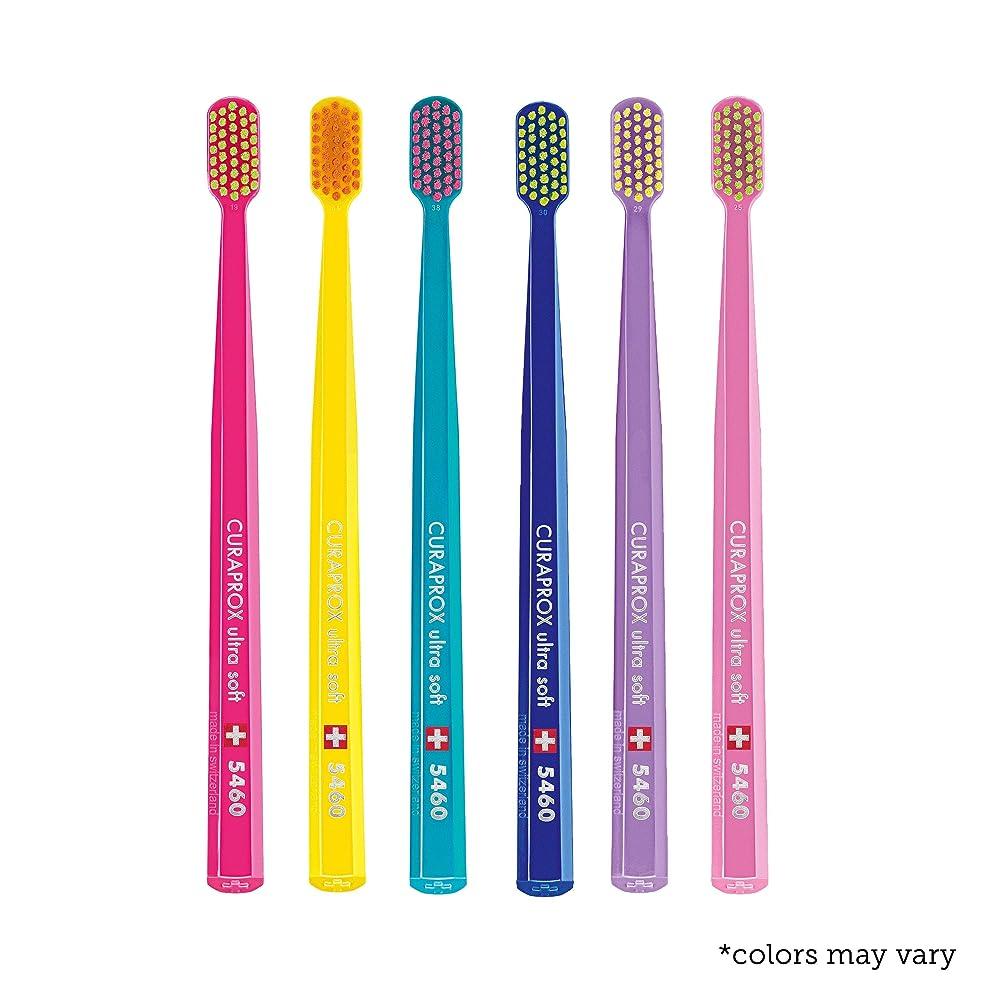 答え後者キリマンジャロUltra soft toothbrush, 6 brushes, Curaprox Ultra Soft 5460. Softer feeling & better cleaning, in amazing vivid colours. by Curaprox