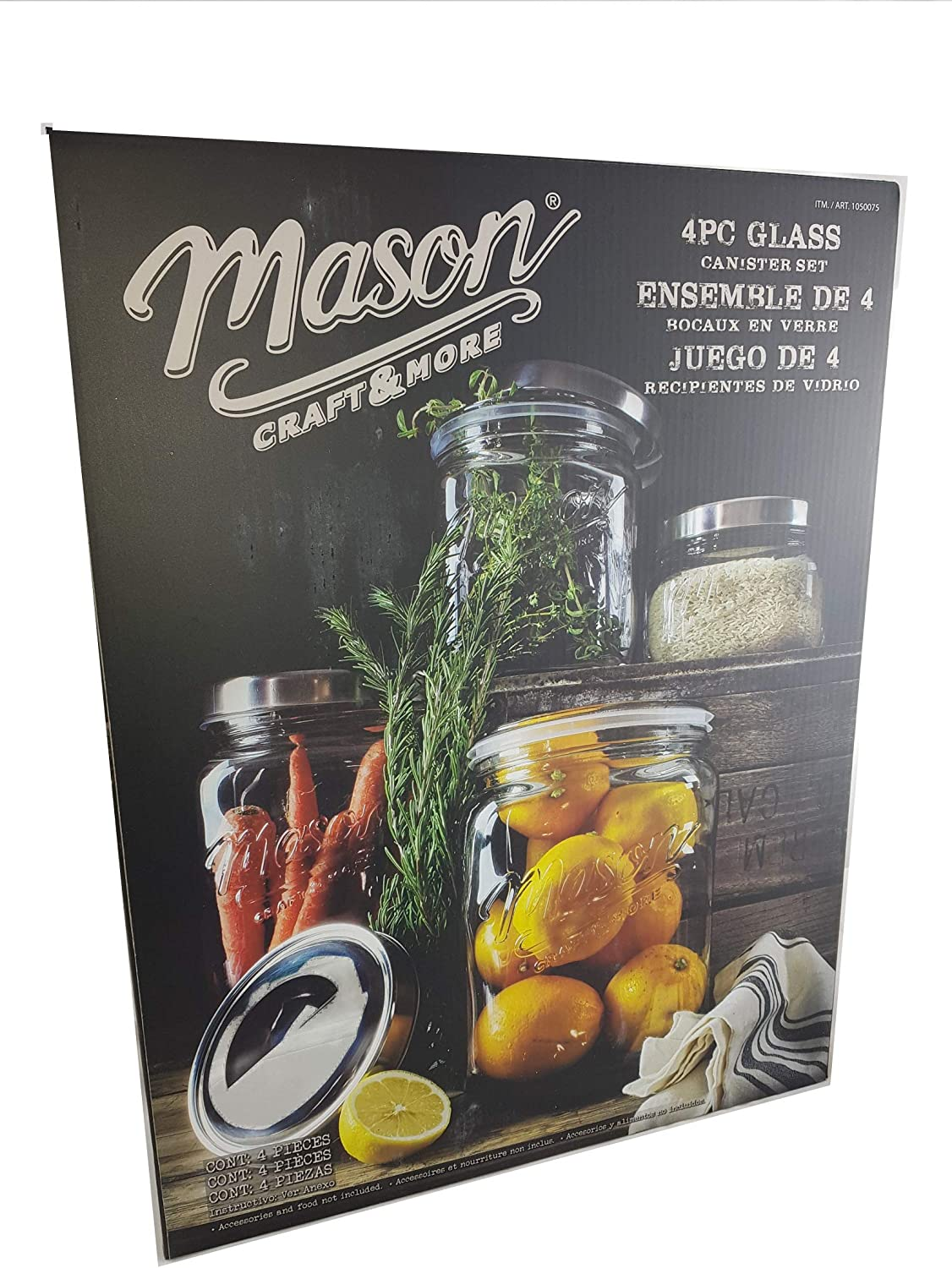 Mason 4-piece Glass Set Industry New product! New type No. 1 Canister