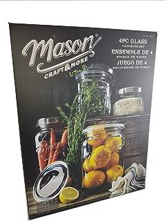 Best mason 4-piece glass canister set Reviews