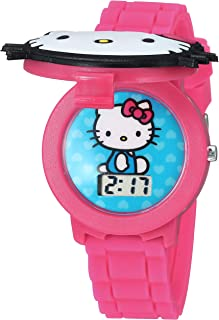 Hello Kitty Girls` Quartz Watch with Plastic Strap, Pink, 16.3 (Model: HK4014AZ)