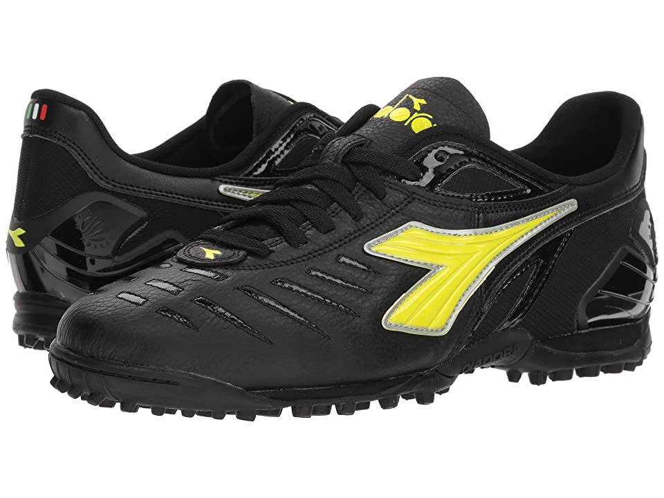 Diadora Maracana 18 TF (Black/Fluo Yellow) Men's Soccer Shoes