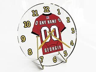 FanPlastic SEC Southeastern Conference College Football - Personalized Desktop Clocks - Size 7