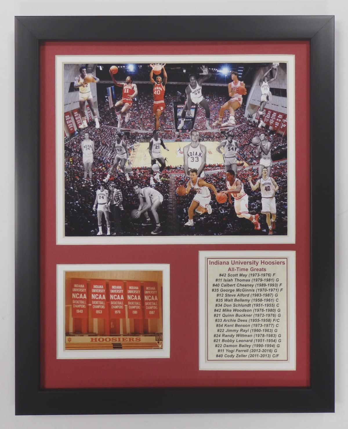 Legends Never Die NCAA Baltimore Mall All-Time Framed Photo Kansas City Mall Collage Greats