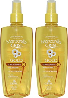 Grisi Chamomile Hair Lotion Manzanilla Lightens & Detangles 8.4 oz.. (2 Pack).. HPVagr
