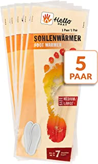 5pares de calentadores de suela de calcetín, talla L, plantillas calentadoras agradables, tejido de rizo suave y cojín de calor, 7horas de calor reconfortante