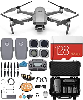 DJI Mavic 2 PRO Drone Quadcopter with Hasselblad Video Camera, 2 Batteries, 4 Piece Lens Filter Kit, Waterproof Shockproof...