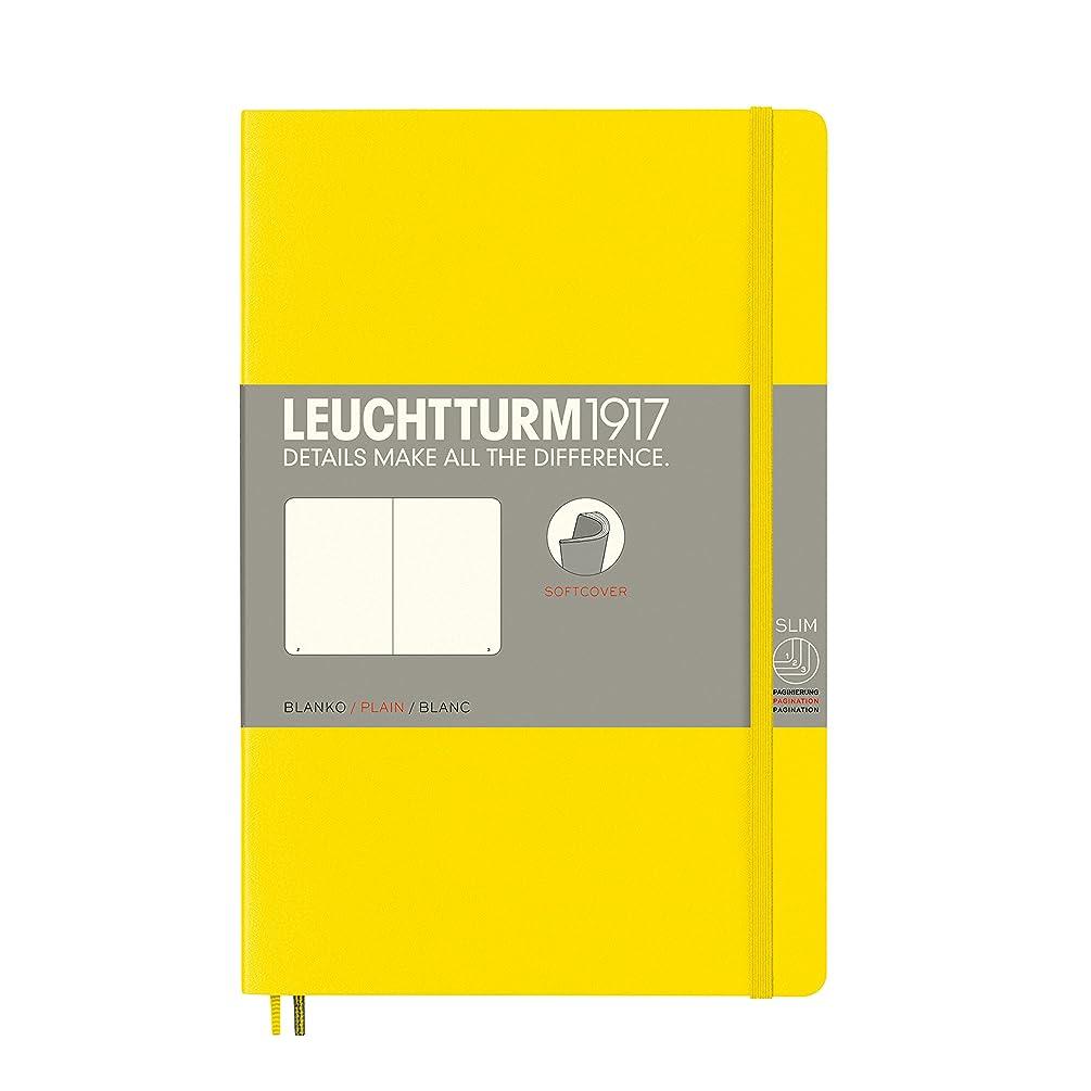 Leuchtturm 1917 Notebook softcover Blank Pocket (A6) Lemon