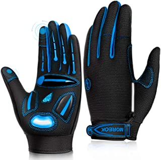 LUROON Full Finger Bike Gloves Unisex Touch Screen Anti-Slip Gel Padded Breathable Cycling Gloves Road MTB Bicycle Gloves ...