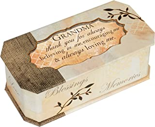 Cottage Garden Grandma Thank You Loving Natural Gold Tone Musical Box Plays Wind Beneath My Wings