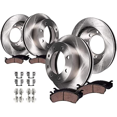 2008 For Ford F-250 Super Duty Rear Disc Brake Rotors and Ceramic Brake Pads