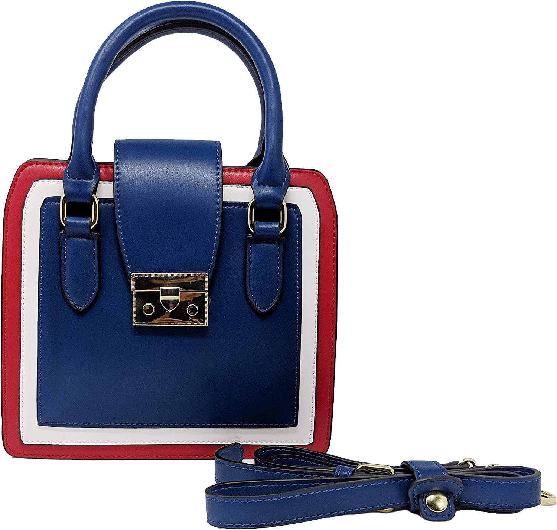 Vegan Leather Cross Body Handbag Shoulder Satchel or Top Handle Purse