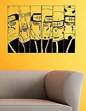 The Six Paths of Pain Vinyl Wall Decals Leader Akatsuki Rinnegan Anime Naruto Shippuden Japan Manga Comics Decal Sticker Vinyl Murals Decors IL0780