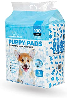 Best Pet Supplies Disposable Puppy Pads for Whelping Puppies and Training Dogs, 100 Pack, Ultra Absorbent, Leak Resistant,...