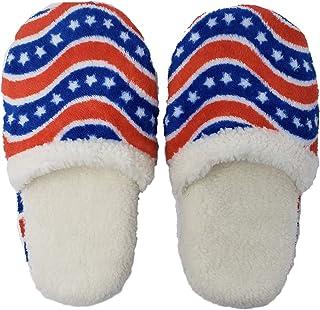 Patriotic USA Flag Patriot Slippers Unisex for Men and Women, 1 Size, Political Democrat or Republican White, Medium