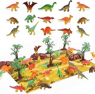 STEAM Life 46 Piece Mini Dinosaur Toy Set - Dinosaur Toys for 3 4 5 6 Year Old Boys and Girls - STEM Toys Dinosaurs Toy Se...