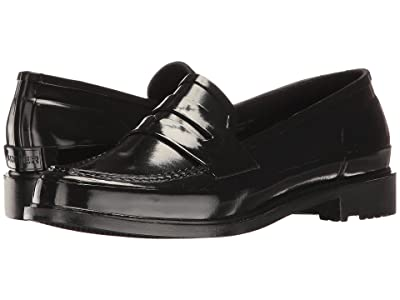 Hunter Original Penny Loafers (Black) Women
