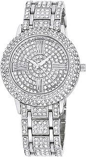Zeiger New Women Luxury Ladies Analog Quartz Round Watch Bling Jewelry Plated Classic Watch Crystal Charm