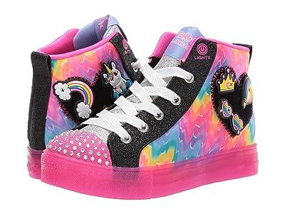 SKECHERS KIDS Twinkle Toes Shuffle Brights 20245L (Little Kid/Big Kid) (Black/Multi) Girl