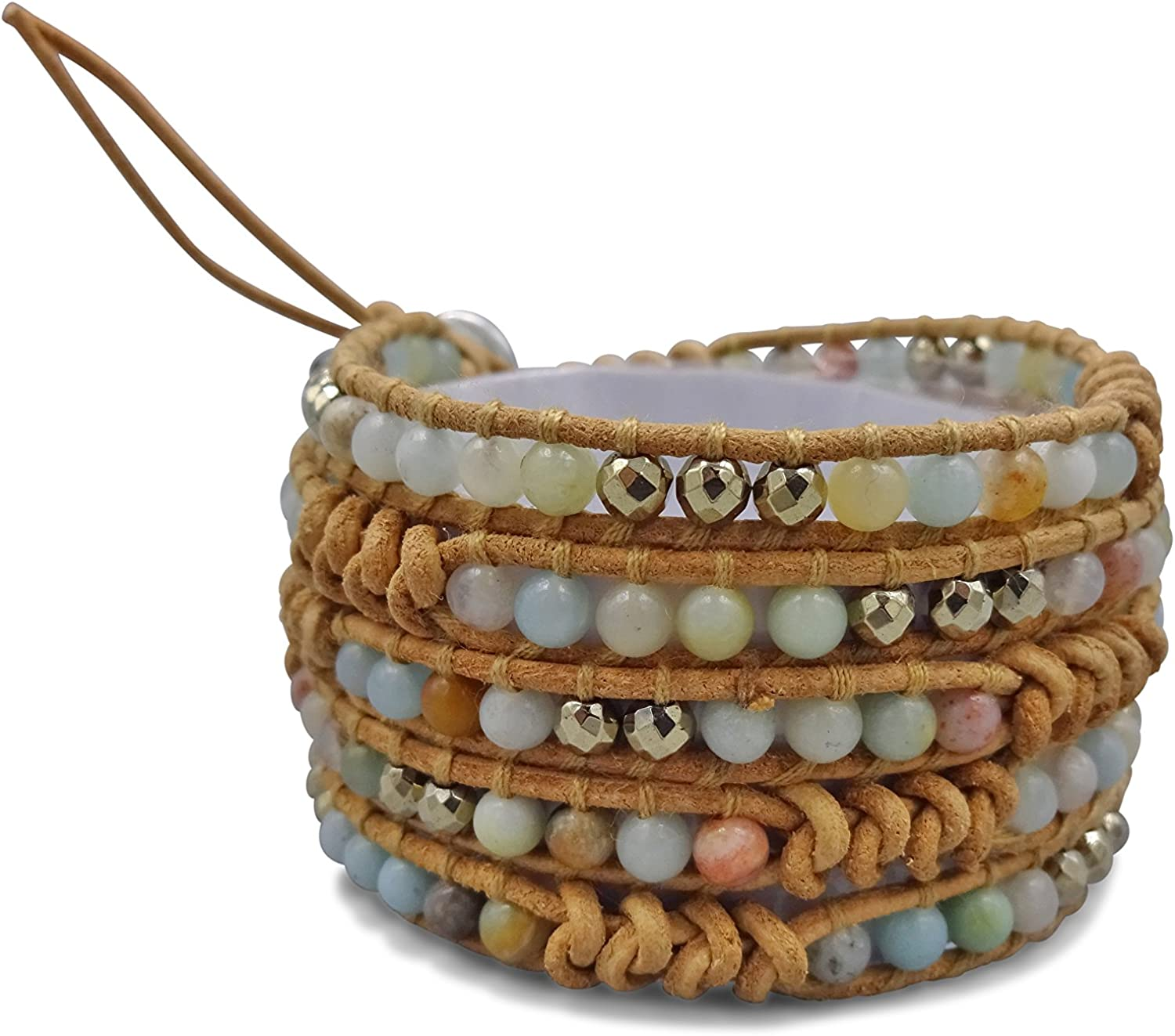 MGR MY GEMS ROCK! Multi-Layer Hand Crafted Mix Stone Beaded on G