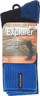 Explorer Tough Work Dual Layer Crew Socks (2 Pack)