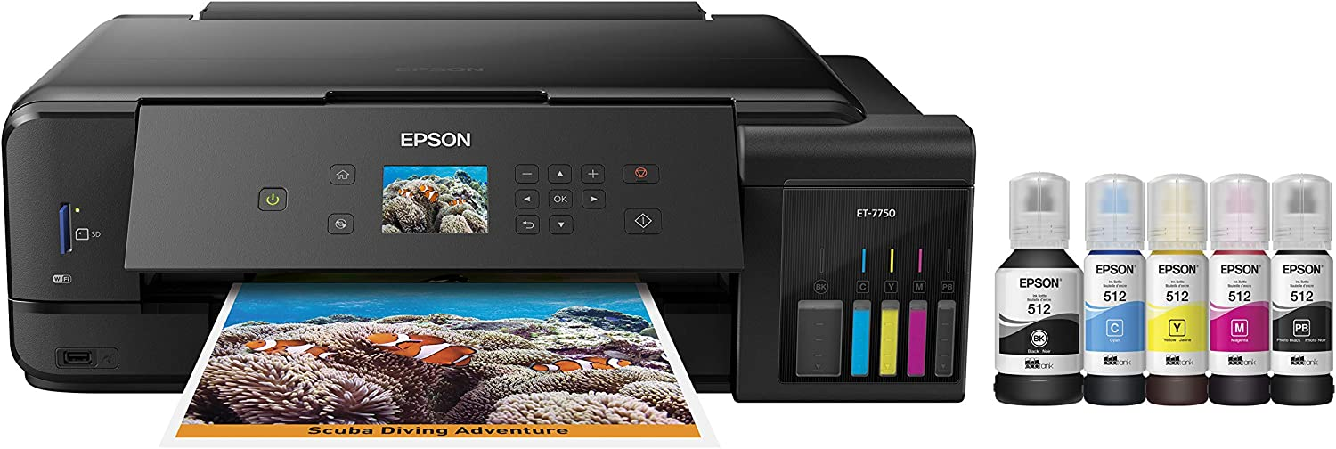 Epson Expression Premium EcoTank Wireless 5-Color All-in-One Supertank Printer with Scanner, Copier and Ethernet