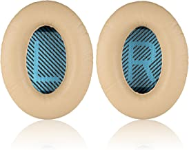 JECOBB Replacement Ear Pads Kit Ear Cushions for Bose QuietComfort 2, Quiet Comfort 15, QuietComfort 25, QC 35, Ae2, Ae2i, Ae2w, Sound True, Sound Link (Around-Ear Only) Headphones (Apricot)