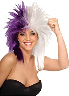 Rubie's Purple and White Sports Fan Wig, Purple/White, One Size