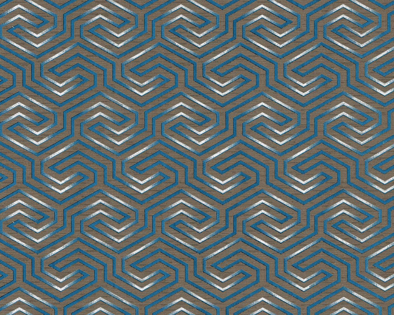 Amazon グラフィック壁紙壁 Edem br92 不織布壁紙 わずかに質感のあるオーナメントとメタリックハイライトブラウンクォーツグレーパールゲンティシャンブルーシルバー10 65平方メートル 114フィート2 壁紙