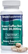 Green Coffee Bean Extract Capsules Potent 20 000mg Formulation Vegan Vegetarian Friendly With Added Zinc to Support Fat Metabolism 60 Capsules Up to 2 Month Supply Manufactured in The UK Estimated Price : £ 14,99