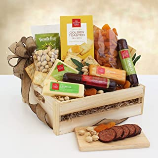 Deluxe Sausage and Cheese Gift Basket | Makes a Great Holiday Gift