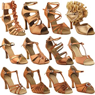 50 Shades of TAN Dance Shoes for Women 1: Latin Ballroom Salsa Clubing Wedding