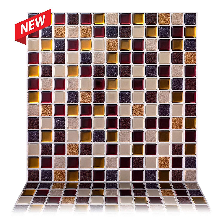 - Tic Tac Tiles 5-Sheet 30cm X 30cm Peel And Stick 3D Tile Sticker
