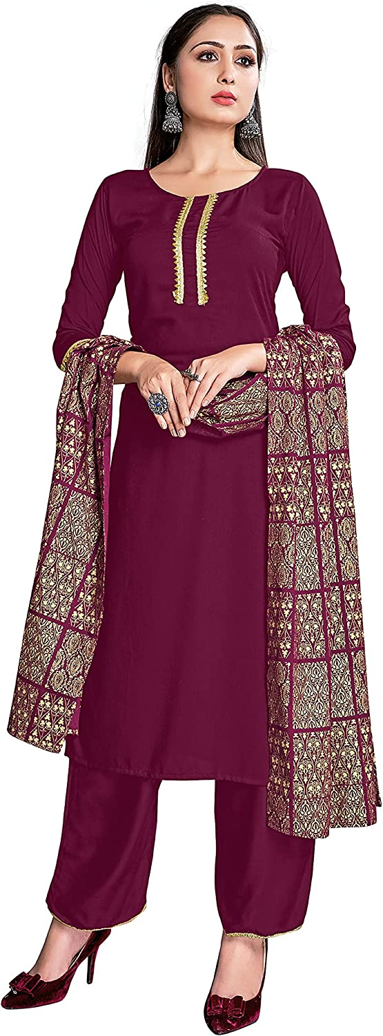 Indian Kurti for Womens With Dupatta Pant Rayon 激安通販専門店 Printed Foil ☆最安値に挑戦