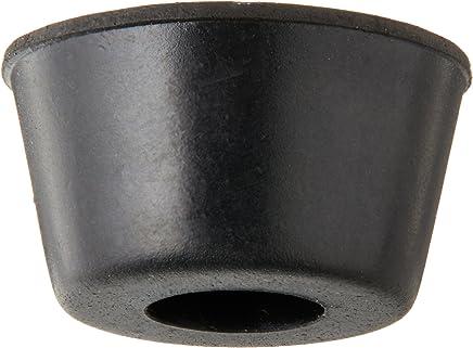 10pcs 21mm x 12mm conique encastré Pieds en caoutchouc pare-chocs Coussinets Noir