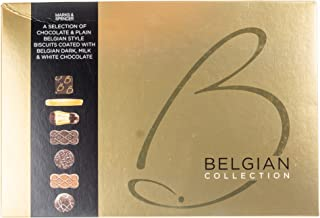 Marks & Spencer Belgian Collection Biscuits 500g - Selection of Chocolate & Plain Belgian Style Biscuits Coated with Belgian Chocolate