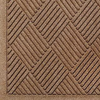 M+A Matting 221 Waterhog Fashion Diamond Polypropylene Fiber Entrance Indoor/Outdoor Floor Mat, SBR Rubber Backing, 8.4' Length x 3' Width, 3/8