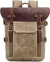 Kattee DSLR Camera Bag Backpack Canvas Vintage Water-repellent 15