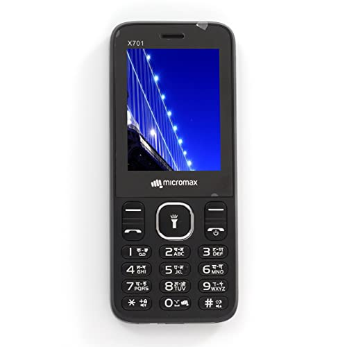 Micromax X701 Mobile 2.4 Inches Display Phone Dual SIM Cellphone with Keypad (Black)