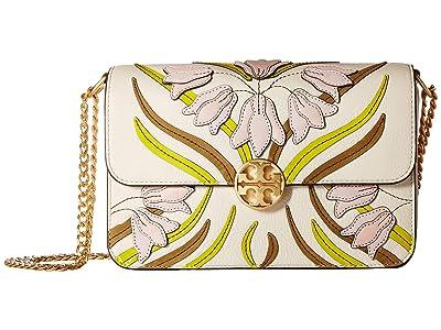 Tory Burch Chelsea Applique Convertible Shoulder Bag (Pink Meridian) Handbags