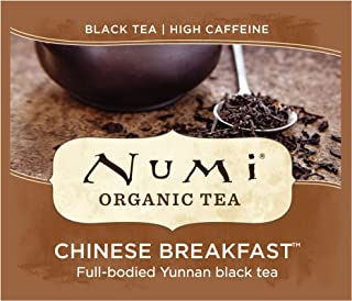 Numi Organic Tea Chinese Breakfast, 100 Count Box of Tea Bags, Yunnan Black Tea (Packaging May Vary)