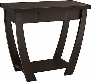ioHOMES Bond 1 Drawer Console/Sofa Table, Cappuccino