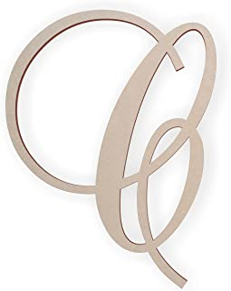 Jess and Jessica Wooden Letter C, Wooden Monogram Wall Hanging, Large Wooden Letters, Cursive Wood Letter