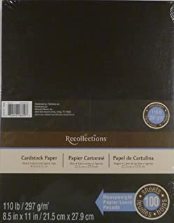 Recollections Black Heavyweight Cardstock Paper, 8.5