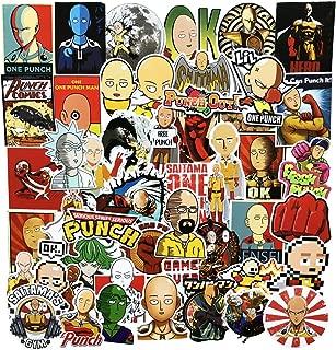 ZUIYIJIANGNAN ONE Punch-Man Anime Stickers(50pcs) Snowboard Laptop Luggage Car Motorcycle Bicycle Fridge DIY Styling Vinyl Home Decor (H-one Punch Man)