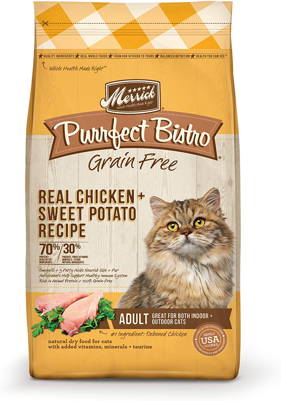 Luxury goods Merrick Purrfect Bistro Grain Free Max 81% OFF Cat Dry Food Healthy Grains