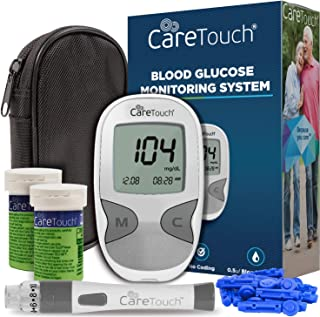 Care Touch Diabetes Testing Kit – Care Touch Blood Glucose Meter, 100 Blood Test Strips, 1 Lancing Device, 30 gauge Lancet...
