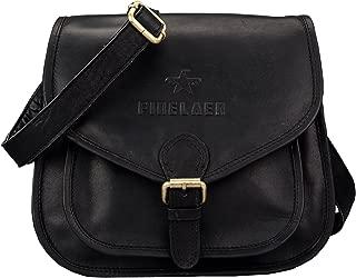 Women Vintage Leather Saddle Crossbody Bag
