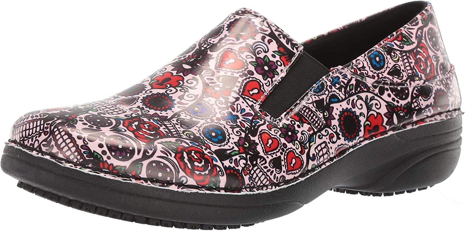 Spring Step Professional Women's Ferrara Skulls Slip-on Shoes Clogs-and-Mules