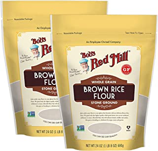 Bob's Red Mill Certified Gluten Free Stoned Ground Whole Grain Brown Rice Flour - 100% Vegan, Kosher Pareve, Non GMO. Perf...